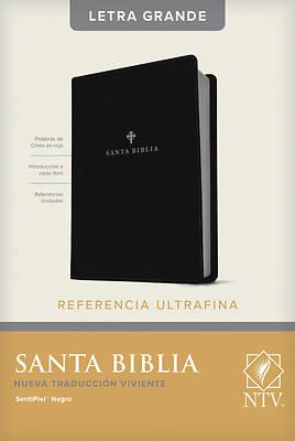 Picture of Santa Biblia Ntv, Edicin de Referencia Ultrafina, Letra Grande (Letra Roja, Sentipiel, Negro)