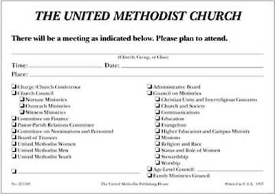 Picture of Notice of Meeting Cards (Pkg of 100)