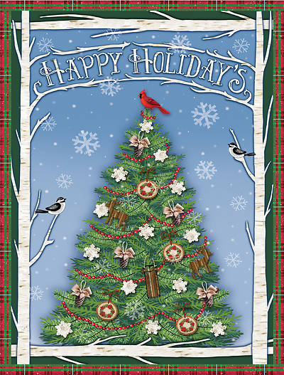 Happy Holidays Christmas Tree Boxed Card (Pkg of 18)