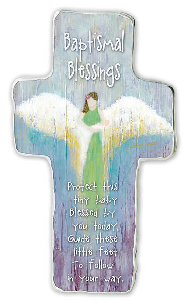 "Picture of Baptismal Blessings Artmetal Cross 6"""