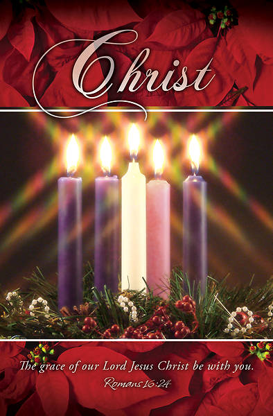Picture of Christ Advent Wreath Regular Size Bulletin