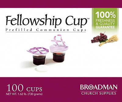 Fellowship Cup Communion Wafer & Juice 100 Pack