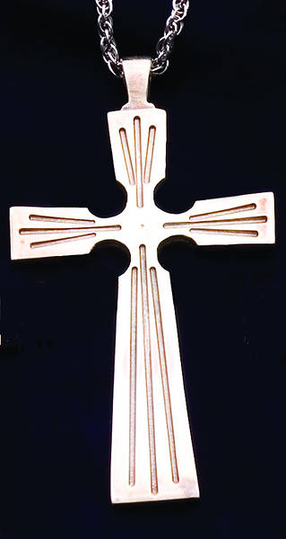 Clergy Cross, sterling silver, with 30