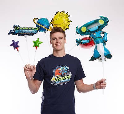Vacation Bible School (VBS) 2019 To Mars and Beyond Foil Balloon Bouquet (Pkg of 7)