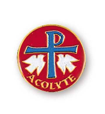 Chi Rho Acolyte Red Lapel Pin