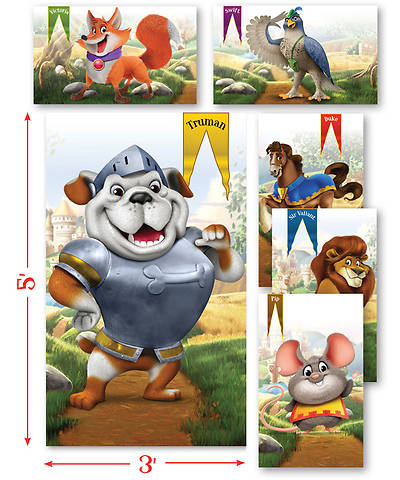 Group VBS 2013 Kingdom Rock Giant Bible Memory Buddy® Posters (set of 6)