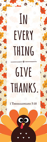 Give Thanks Kids Thanksgiving Bookmark