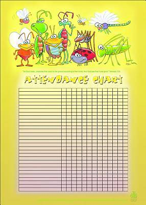 Picture of Bugs Attendance Chart