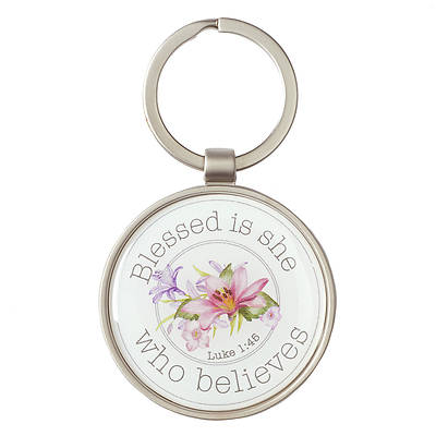 Picture of Keyring Blessed is She Who Believes Who Believes