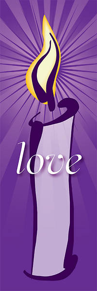 Contemporary Advent Series Love Banner 2X6