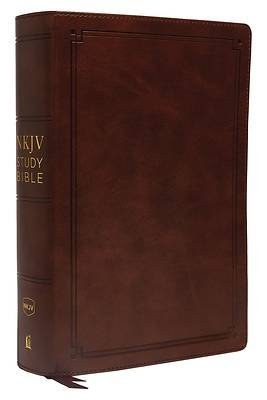 NKJV Study Bible, Imitation Leather, Brown, Red Letter Edition, Comfort Print
