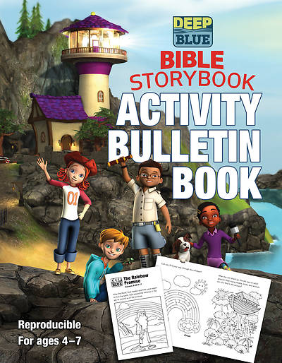 Picture of Deep Blue Bible Storybook Activity Bulletin Book - PDF Download