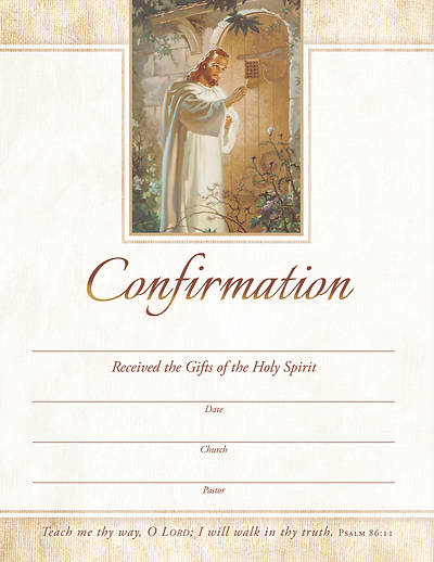 Confirmation Certificate