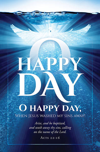 Picture of Happy Day Baptism Bulletin- Acts 22:16 Reg (Pkg of 100)