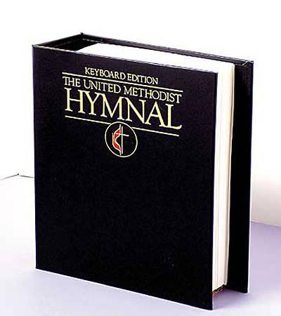 Picture of United Methodist Keyboard Navy Blue Hymnal Binder