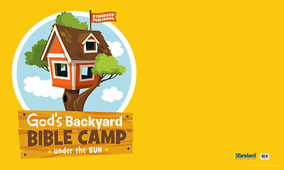 Standard Vacation Bible School 2013 Gods Backyard Bible Camp Under the Sun Outdoor Banner