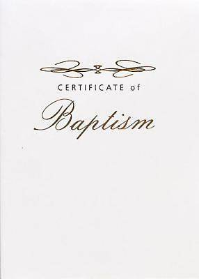 Abingdon Select Collection Adult & Youth Baptism Certificate