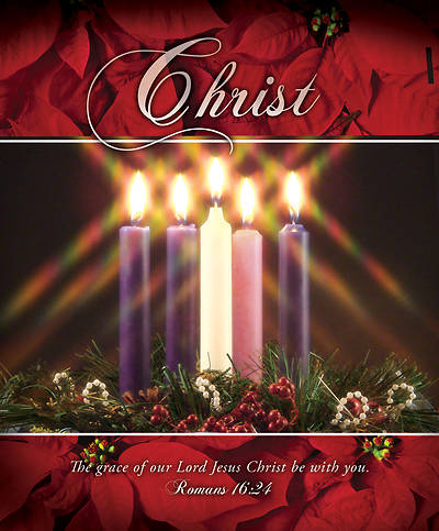 Picture of Christ Advent Wreath Legal Size Bulletin