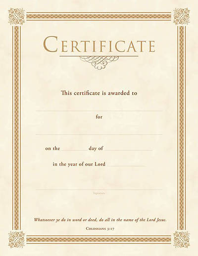 Picture of General Gold Foil Certificate