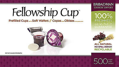Fellowship Cup Communion Wafer & Juice 500 Pack