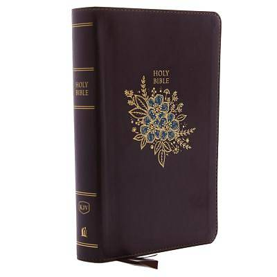 Picture of KJV, Deluxe Reference Bible, Personal Size Giant Print, Imitation Leather, Burgundy, Indexed, Red Letter Edition