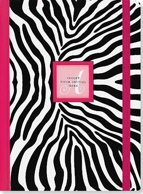 Zebra Monogram Journal