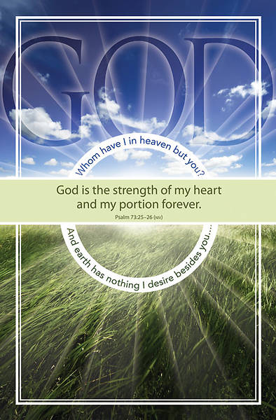 Psalm 73:25-26 Bulletin, Regular (Package of 100)