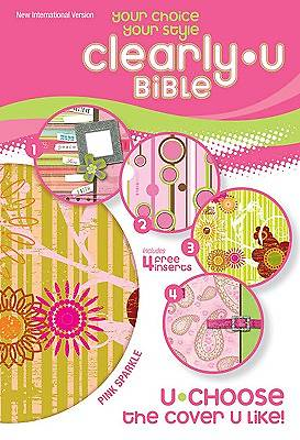 NIV Clearlyu Bible Pink Sparkle