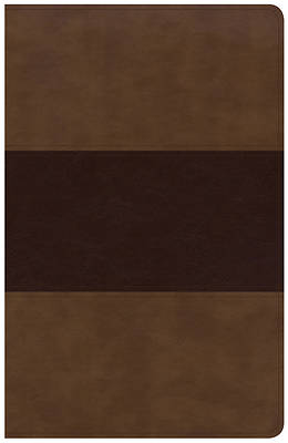 Picture of KJV Large Print Personal Size Reference Bible, Saddle Brown Leathertouch