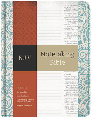 Picture of KJV Notetaking Bible, Blue Floral