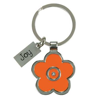 Joy Flower Metal Key Ring
