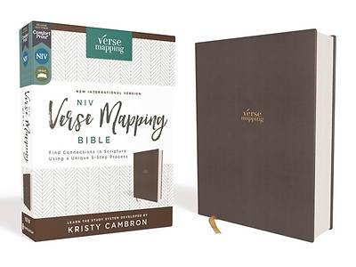 Picture of Niv, Verse Mapping Bible, Cloth Over Board, Gray, Comfort Print