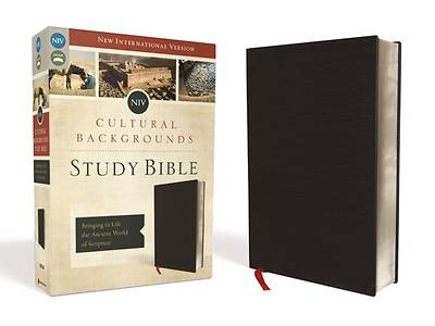 NIV, Cultural Backgrounds Study Bible, Bonded Leather, Black