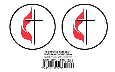 Picture of United Methodist Cross & Flame Static Cling (Pkg of 2)