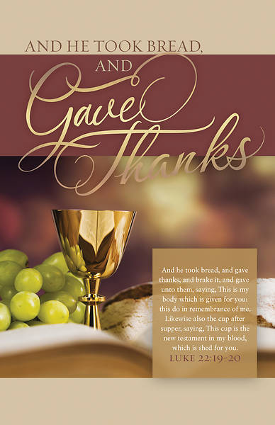 Picture of Gave Thanks Communion Regular Size Bulletin