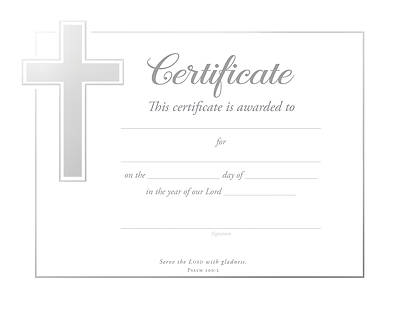 Picture of General Certificate Psalm 100:2 Pkg of 6