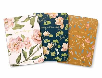 Picture of Gracelaced Lined Notebooks, Set of 3, Rejoice, Pray, Give