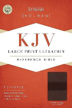KJV Large Print Ultrathin Reference Bible, Brown/Chocolate Leathertouch