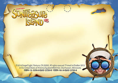 Gospel Light VBS 2014 SonTreasure Island Name Tags (Package of 50)