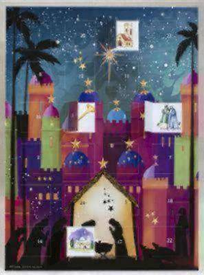 Nativity Silhouette Advent Calendar (includes envelope)