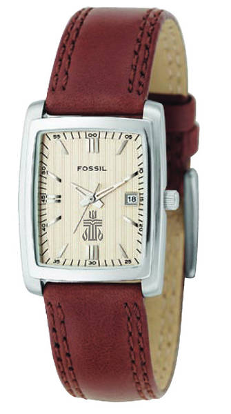 Fossil Classic Genuine Leather Womens Dress Watch with PCUSA Logo