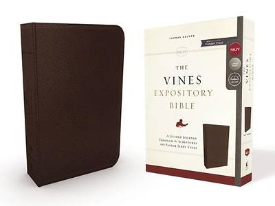 NKJV, the Vines Expository Bible, Imitation Leather, Brown, Red Letter Edition