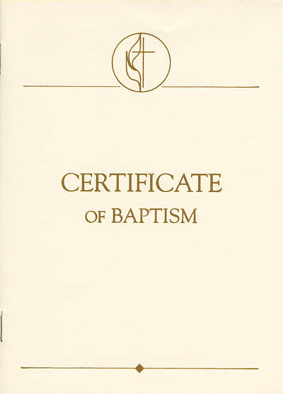 United Methodist Covenant I Youth & Adult Baptism Certificates (Pkg of 3)