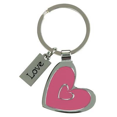 Picture of Love Heart Metal Key Ring