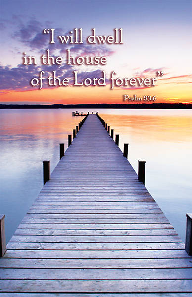 Psalm 23:6 Bulletin, Regular (Package of 100)