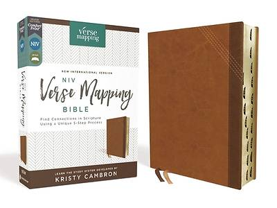 Picture of Niv, Verse Mapping Bible, Leathersoft, Brown, Thumb Indexed, Comfort Print