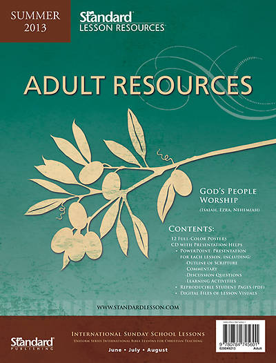 Standard Lesson Quarterly Adult Resources Summer 2013