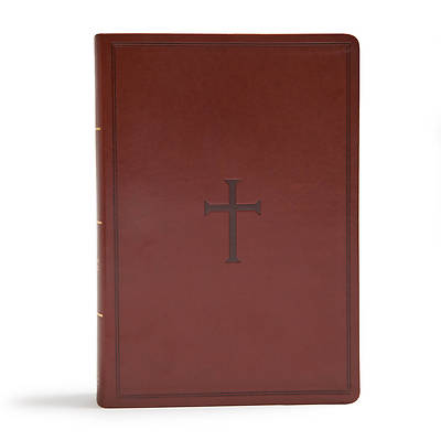 Picture of CSB Super Giant Print Reference Bible, Brown Leathertouch