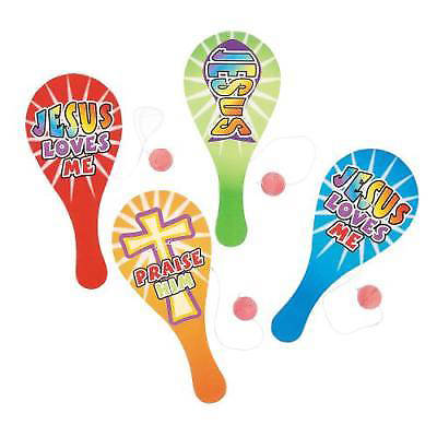 Picture of Wooden Religious Paddleball Games
