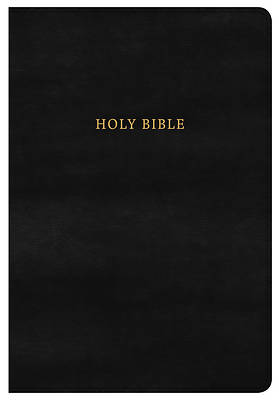 Picture of NKJV Super Giant Print Reference Bible, Classic Black Leathertouch, Indexed